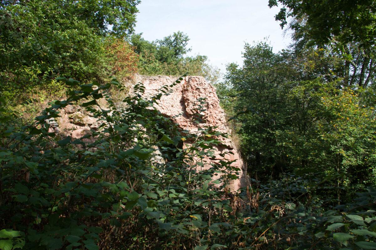 Reste der Mittelburg